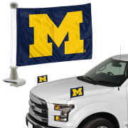 Team Promark University of Michigan Block ''M'' Ambassador Flag [Set of 2]
