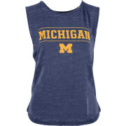 Pressbox University of Michigan Women's Heather Navy Vintage Washed Tank Top