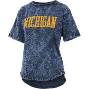 Pressbox University of Michigan Women's Navy Campus Garment Burn Wash Tee