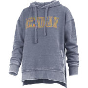 Pressbox University of Michigan Women's Washed Navy Marni Vintage Hooded Sweatshirt