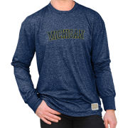 Retro Brand University of Michigan Heather Navy Mock Twist Long Sleeve Tee