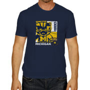 Retro Brand University of Michigan Heather Navy Tokyodachi 2.0 Tee
