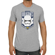 Retro Brand University of Michigan Gray Star Wars First Order Stormtrooper Tee