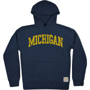 Retro Brand University of Michigan Heather Navy Softee Hooded Sweatshirt