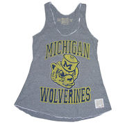Retro Brand Unversity of Michigan Ladies Vault Wolverines Marrow Edge Tank Top