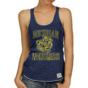 Retro Brand University of Michigan Ladies Navy Vault Marrow Edge Tank Top
