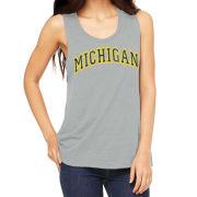 Retro Brand University of Michigan Women's Gray Rocker Tank Top