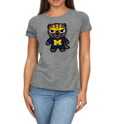 Retro Brand University of Michigan Women's Gray Tokyodachi Triblend Tee