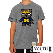Retro Brand University of Michigan Youth Gray Tokyodachi Triblend Tee
