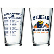 RFSJ University of Michigan Football Orange Bowl Pint Glass