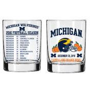 RFSJ University of Michigan Orange Bowl Rocks Glass