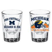 RFSJ University of Michigan Football Orange Bowl Shot Glass