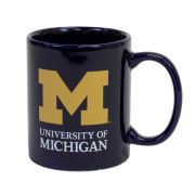 RFSJ University of Michigan Signature Mark Navy Coffee Mug