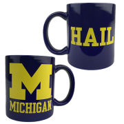 RFSJ University of Michigan Navy Block ''M''/ HAIL Coffee Mug