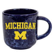 RFSJ University of Michigan Navy Marbled Natural Coffee Mug
