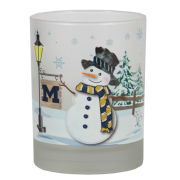 RFSJ University of Michigan Snowman Holiday Rocks Glass