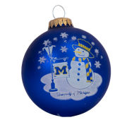 RFSJ University of Michigan Navy Snowman Ornament
