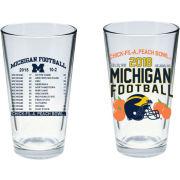 RFSJ University of Michigan Football Peach Bowl Pint Glass