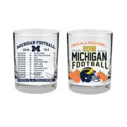 RFSJ University of Michigan Football Peach Bowl Old Fashioned Rocks Glasses