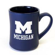 RFSJ University of Michigan Navy Etched MK Matte Coffee Mug