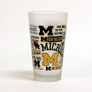 RFSJ University of Michigan Campus Wrap Frosted Pint Glass