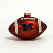 RFSJ University of Michigan Football Glass Bulb Ornament