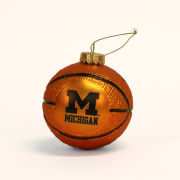 RFSJ University of Michigan Basketball Glass Bulb Ornament