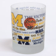 RFSJ University of Michigan Frosted Campus Wrap Old Fashioned Rocks Glass
