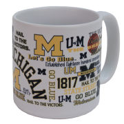RFSJ University of Michigan White ''Tailgater'' 20 oz. Coffee Mug
