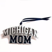 RFSJ University of Michigan Mom Pewter Glitter Ornament