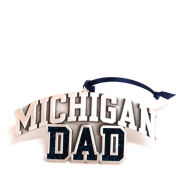 RFSJ University of Michigan Dad Pewter Glitter Ornament