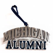 RFSJ University of Michigan Alumni Pewter Glitter Ornament