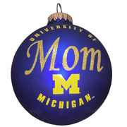 RFSJ University of Michigan Mom Navy Matte Glass Ornament