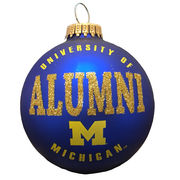 RFSJ University of Michigan Alumni Navy Matte Glass Ornament