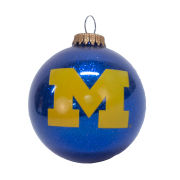 RFSJ University of Michigan Navy Sparkle Bulb Ornament