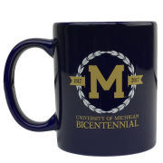 RFSJ University of Michigan Bicentennial Navy Coffee Mug