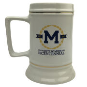 RFSJ University of Michigan Bicentennial Logo Ceramic Stein Mug