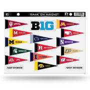 Rico Tag Express University of Michigan Big Ten Conference Rank'em Magnet Set