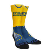 Rock'Em University of Michigan Basketball Practice Uniform Design Crew Socks