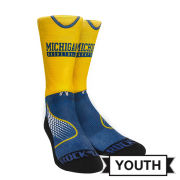 Rock'Em University of Michigan Basketball Youth Practice Uniform Design Crew Socks