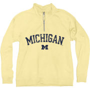 Blue84 University of Michigan Women's Butter Yellow 1/4 Zip Sweatshirt