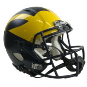 Ridell University of Michigan Football Authentic Revolution Speed Hand-Painted Matte Helmet