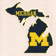 SDS University of Michigan State of Michigan Large Car Magnet