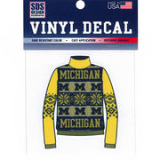 SDS University of Michigan Ugly Holiday Sweater Decal