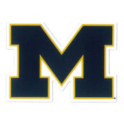 SDS University of Michigan 2'' Navy Block ''M'' Logo Ultra Durable Dizzlers Decal