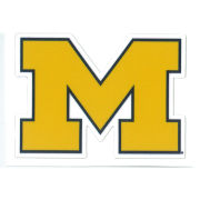SDS University of Michigan 2'' Yellow Block ''M'' Logo Ultra Durable Dizzlers Decal