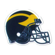 SDS University of Michigan Football 2'' Ultra Durable Dizzlers Decal