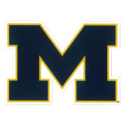 SDS University of Michigan 3'' Navy Block ''M'' Logo Ultra Durable Dizzlers Decal