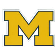 SDS University of Michigan 3'' Yellow Block ''M'' Logo Ultra Durable Dizzlers Decal