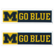 SDS University of Michigan 3'' M Go Blue Ultra Durable Dizzlers Decal